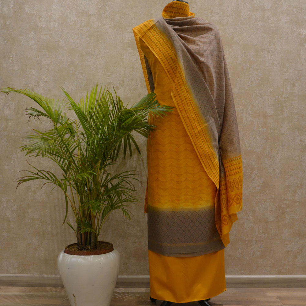 latest chanderi suits designs